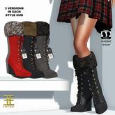 Entice - Let it Snow Boots - Blacks