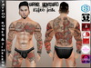 [HUD] Male Tattoo Applier - Roses & Timeless (Full Body)