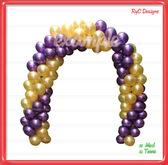Arco Globos & Balloon Arch (yelow purple) Dollarbie