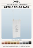 """Onsu ~ """"S(he) Be(lie)ve(d)"""" Poster Cables ~ Metals Color Pack"""