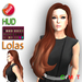 "eDeLsToRe woman mesh hair "" Venus "" incl 24 color HUD long curly female lange Haare"