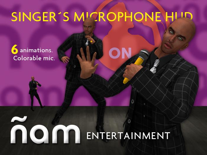 NIAM. Singer Microphone HUD.
