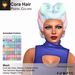 A&A Cora Hair Pastel Colors Pack. Womens edgy two tone mesh updo