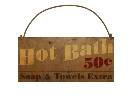 Rustic Hot Bath Sign