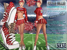 Bella Moda: Rallegrare Duce Red Cheer Leader Outfit
