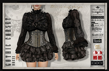 PIXEL BOX - Dress Gothic corset mesh avatar FITMESH, Maitreya, Slink, Belleza, Ebody, Hourglass, Tonic