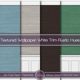 {L} Textured Wallpaper-White Trim-Rustic Hues