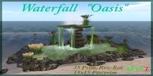 """Free Freebie Gift Waterfall """"Oasis"""" lake waterfall cave cavern grotto forest garden landscaping"""