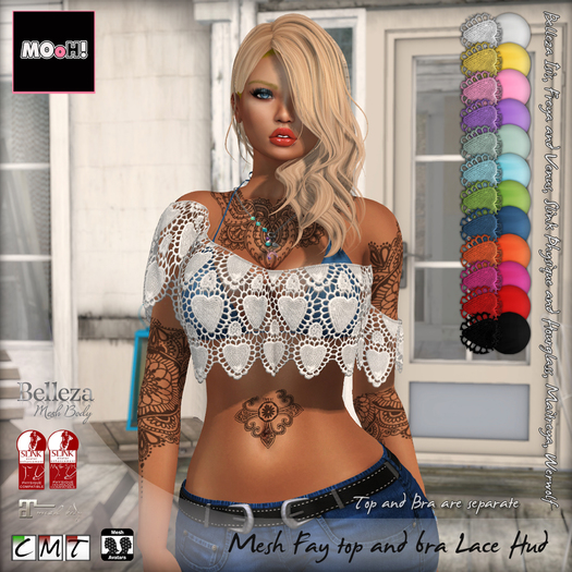MOoH! Demo Fay top and bra Lace hud (Add)