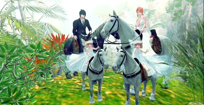 ++ Vetro Poses - Horseback Riding With Family 01++