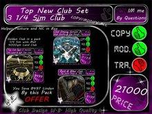 CLUB PACK 3 Clubs 1/4 SIM 1 Club 4000 qm Land Fully Equipped