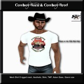 Country Couture Cowboy Born & Cowboy Bred Shirt