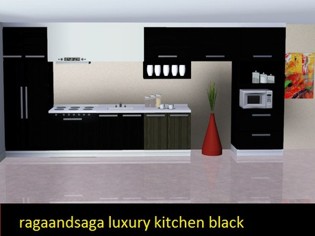 Second Life Marketplace Luxury Kitchen Black Ragandsaga Full Perm