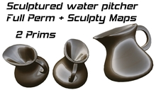 2 Prim Sculptured water pitcher Full Perm + Sculpty Maps