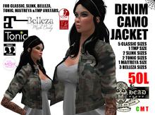 Mesh Head - Denim Camo Jacket - CLASSIC / SLINK / MAITREYA / BELLEZA / TONIC / TMP