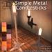[DDD] Simple Metal Candlesticks
