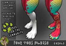 [TJR] Four Toes Please! [Kobold Feet]