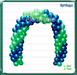 Arco Globos & Balloon Arch (green blue) Dollarbie