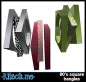 kitsch me - 80's Square Leopard Print Bangles dollarbie (3 colors)