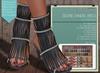 "Addams ""Selene"" Mesh Sandals Hell -Maitreya Belleza Slink- #FATPACK"
