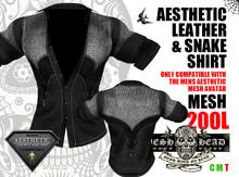 Mesh Head - Aesthetic Leather & Snake Shirt