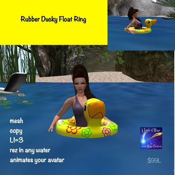 Rubber ducky float ring (bag)