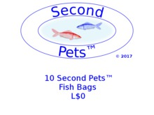 10 Second Pets Fish Bags