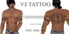 v3 Tattoo - By Skill Not Force