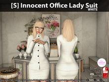 [S] Innocent Office Lady Suit White