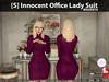 s  innocent office lady suit magenta pic