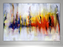 FREQUENCY Abstract Painting | Mesh Wall Panel Canvas