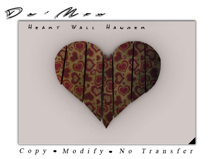 .::De'Mon::. Old St. Valentine (Hearts) - Wall Hanger