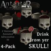 Anteater Emporium - I Drink From Yer Skull! - 4-Pack