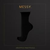 Messy. Dropped Pantyhose Black
