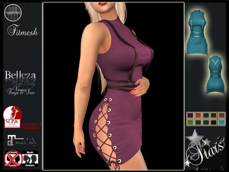 Stars - Fitted dress Maitreya, Hourglass, Physique - Rox