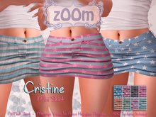 zOOm - Cristine FitMesh Skirt with HUD Textures