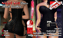 ✪Blow-Up✪ Night Sin Dress - Black Leather - Maitreya / Physique / Hourglass