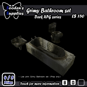 Grimy Bathroom set