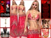 **LUZINETE RED VERSION BOHO STYLE COMPLET OUTFIT **