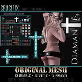:Diamante: Crucifix (Original Mesh) Ring DEMO