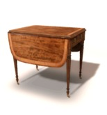 Drop Leaf Mahogany Table  - C&G -