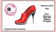 *PC* Adrianna shoes Red PRE-RETIRING GIFT