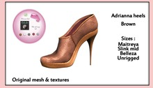 *PC* Adrianna shoes Brown PROMO PRICE-50% OFF