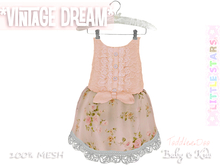 * {.:Little Stars.:} * Vintage Dream - Antique Peach {non-fitted TD Baby}