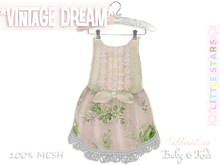 * {.:Little Stars.:} * Vintage Dream - Antique Green {non-fitted TD Baby}
