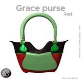 *PC* Grace purse red PRE-RETIRING GIFT