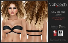 Vaboosh - Bra Top Appliers - Black - Belleza/Maitreya/Slink/WowMeh