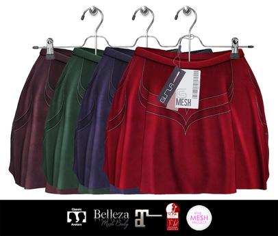 GIZ SEORN - Grace / Mini Skirts [Suede]