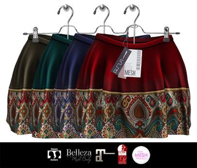 GIZ SEORN - Grace / Mini Skirts [Ethnic]