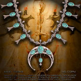 """""""Squash Blossom"""" native american / indian necklace"""
